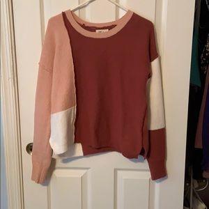 Blocked pattern sweater